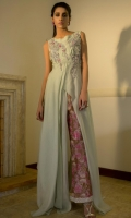Gown : Chiffon Trouser : Raw silk