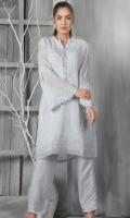 Shirt : Cotton net Trouser : viscose Dupatta : Organza