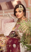 Embroidered Organza Unstitched 3 Piece Suit