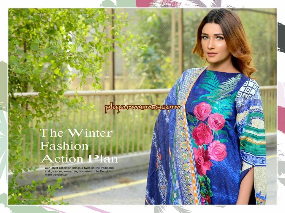 56c776e2dd Johra Heaven Print Embroidered Viscose Collection 2018 | Pakistani ...