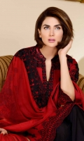 Embroidered Swiss Voile Shirt With Embroidered Bamber Chiffon Dupatta Embroidered Cotton Trouser