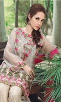 Net Embroidered Front                          01 Yard  Net Embroidered Back                           01 Yard Net Embroidered Sleeves                      0.75 Yard Raw Silk Dyed Trouser                           2.5 Meter Net Embroidered Dupatta                     2.5 Meter Net Embroidered Dupatta Pallu Lace  2.5 Meter Embroidered Neckline                           1pc Embroidered Front Boarder                 1pc