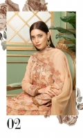 Embroidered Swiss Lawn Shirt Embroidered Chiffon Dupatta Dyed Trouser