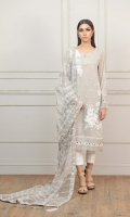 Beautiful Schiffon Embroidered shirt with Hand Embellishments and Embroidered Organza Dupatta
