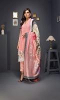 Embroidered Shirt 3 Mtr Inner 2 Yard Digital Silk Dupatta 2.5 Mtr Jamawar Trouser 2.5 Mtr