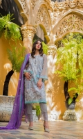 1.25 Mtr Organza Embroidered Shirt Front 1.25 Mtr Organza Shirt Back 1 Yard Organza Embroidered Sleeves 2.5 Mtr Chiffon Embroidered Dupatta 2.5 MtR Raw Silk Trouseer 2 Yard Inner 1 Yard Embroidered Lace