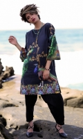 Fabric: Lawn  Color: Black  Round Neckline  Printed front  Printed Back