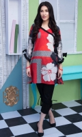 Fabric: Lawn  Color: Red  Frock style tunic with side bow  Bow Sleeves