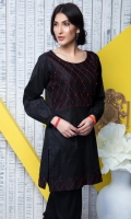 Fabric: Lawn  Color: Black  Embriodered Front