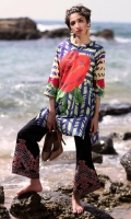 Fabric: Lawn  Color: Multi  Folded Neckline  Printed front  Embriodered Sleeves