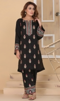 embroidered and embellished cotton silk shirt with embroidered cotton silk shalwar.