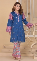 printed and embroidered kurta shirt with regular fit.