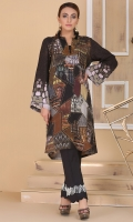 printed shirt with v- neckline and front buttoned pannel.
