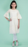 Cotton Dyed & Embroidered Long Frock