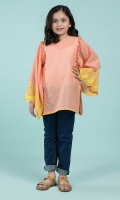Dyed & Embroidered tunic with frill