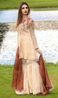 Maisuri shirt with heavy hand embroidery maisuri dupatta and cotton silk gharara