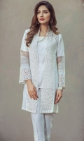 Karandi heavily embroidered gown with embroidered inner