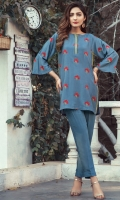 Pure Katan silk embroidered shirt with trouser