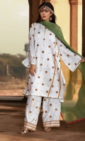 Cotton Silk Embroidered Shirt Cotton Silk Embroidered Trouser Crushed Chiffon Dupatta