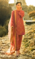 Paper silk hand embroidered & embellished shirt, Raw silk embellished trouser, polynet embroidered dupatta