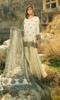 Cotton silk block printed embellished shirt, Cotton silk embellished farshi-gharara, Block printed chiffon dupatta