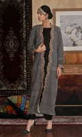 Hand embellished, Embroidered gown with plain inner shirt and and trouser