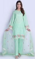 3Pc Printed & Embroidered Suit