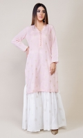 Shimmer lawn Embroidered Shirt with Gota Buttons