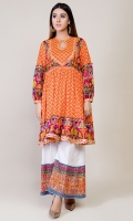 Printed angrakha with Gotta Lace