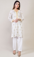 Shimmer lawn Embroidered Shirt