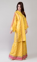 Gold Paste Printed and emblished frock paired with sharara