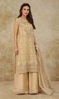 Dyed, Embroidered and embellished Crinckle Chiffon Shirt Front(1.00m) Dyed, Embroidered and embellished Crinckle Chiffon Back & Sleeves(1.50m) Dyed, Embroidered and embellished Crinckle Chiffon Dupatta(2.50m)