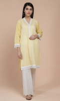 Dyed & Embroidered Wider Width Lawn Shirt Front & Sleevs(1.25m) Dyed & Embroidered Wider Width Lawn Shirt Back(1.25m)
