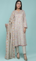 Printed Wider Wider Lawn Shirt(2.50m) Printed & Embroidered Cotton Lawn Dupatta(2.50m) Dyed Cambric Shalwar(2.50m)