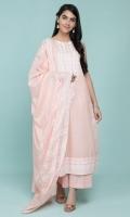 Printed Wider Width Lawn Shirt(2.50m) Printed Cotton Lawn Dupatta(2.50m) Dyed Cambric Shalwar(2.50m)