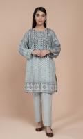 Printed & Embellished Wider Width Lawn Shirt(2.50m)