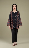 Printed & Embellished Wider Width Khaddar Shirt(2.50m)
