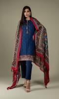 Printed Wider Width Khaddar Shirt(2.50m) Printed Wool Shawl(2.50m) Dyed Khaddar Shalwar(2.50m)