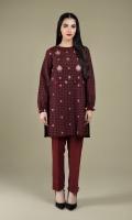 Printed & Embroidered Wider Width Khaddar Shirt Front(1.00m) Printed Wider Width Khaddar Shirt Back(1.50m)