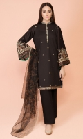 Dyed & Embroidered Wider Width Lawn Shirt(2.25m) Dyed Embroidered Wider Width Lawn Sleeves(0.66m) Printed & Embroidered Polynet Dupatta(2.50m) Dyed Cambric Shalwar(2.50m)