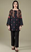 Printed & Embroidered Wider Width Khaddar Shirt Front(1.25m) Printed Wider Width Khaddar Shirt Back(1.50m)