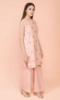 Dyed & Embroidered Cotton Karandi Shirt(2.75m) Dyed Cotton Karandi Shalwar(2.50m)