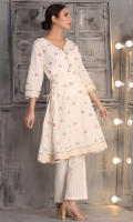 floral embroidered flared anarkali shirt with antique gold lace detailing