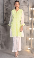 Floral emboridered lawn kurta with camisole (2pcs)