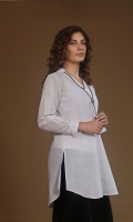 front placket shirt with collar and sleeve detailing