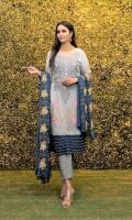 Embroidered Chiffon Front Embroidered Chiffon Back Embroidered Chiffon Sleeves Embroidered Chiffon Ghera Plain Chiffon Trouser