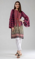 Printed Linen Kurta with Bell Sleeves