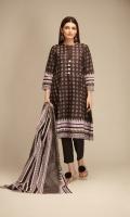Printed Cambric Kameez 3.0m Printed Cambric Dupatta 2.5m Shalwar 2.5m