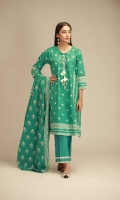 Front & Sleeves Cambric Printed 2.0m Back Cambric Printed 1.25m Printed Cambric Dupatta 2.5m Shalwar 2.5m