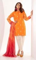 Brosha Shirt Embroidered 2.5m Chiffon Dupatta 2.5m Shalwar 2.5m
